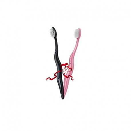 Zestaw Szczoteczek Whitewash Black & Pink Medium